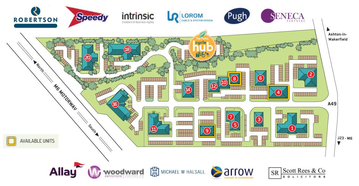 The Parks Haydock Site Plan