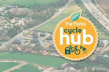 Cycle hub for The Parks Haydock